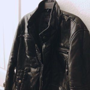 Zara Men Leather Jacket- Size L